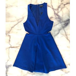 Express cut out fit and flare dress